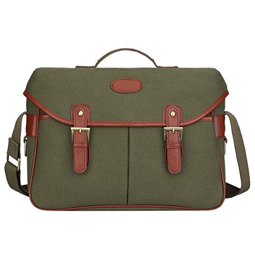 S-ZONE Fashion Canvas DSLR SLR Vintage Camera Bag Messenger