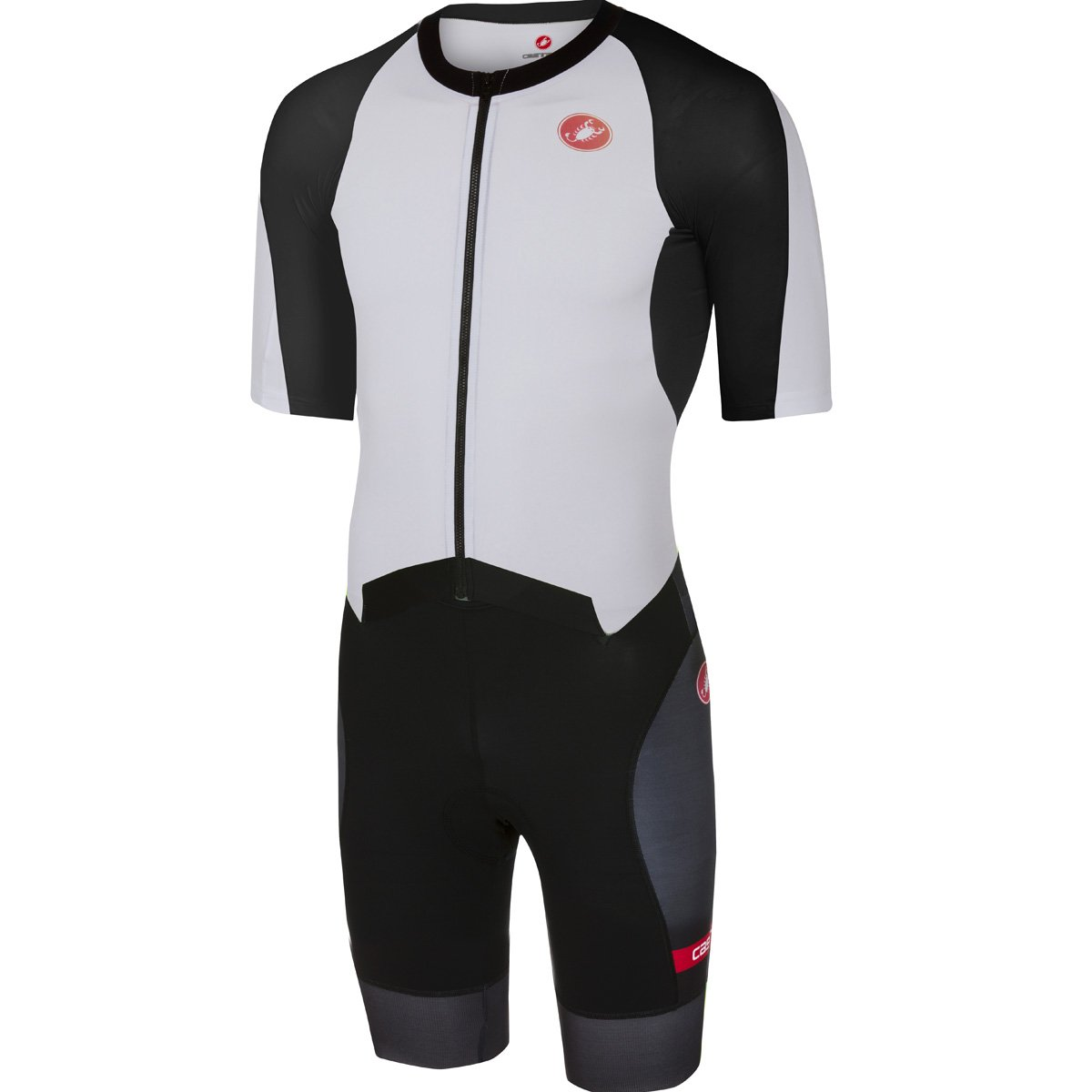 CastelliメンズAll Out速度Tri Suit Large ホワイト B079RM4441