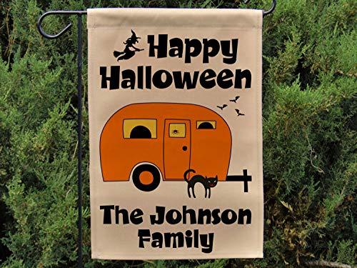 Fabri.YWL Happy Halloween, Personalized Rv Halloween Decoration, Jack-O-Lantern Camper Flag, Pumpkin Face Flag 12