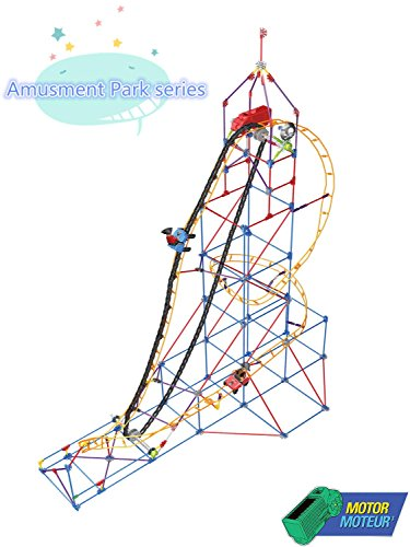 GOCOUP Amusment Park series - Amazing Roller Coaster - Motorized Assembly Building set