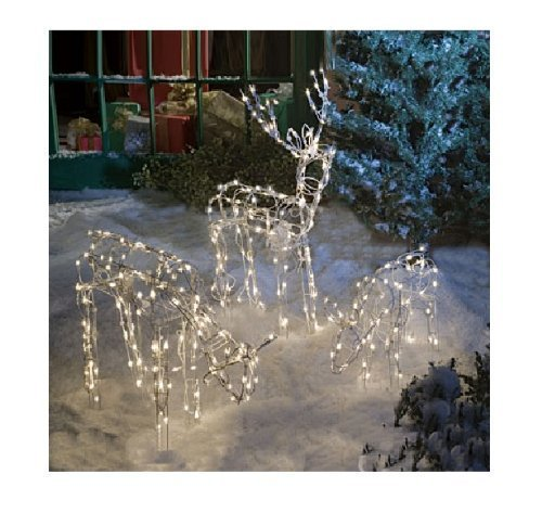 Outdoor Lighted Deer Family - 6