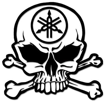 Amazon Com Death Skull Crossbones Yamaha Racing Vinyl Decal Sticker