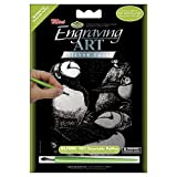 Royal Brush Mini Silver Foil Engraving Art Kit, 5 by 7-Inch, Oceanside Puffins