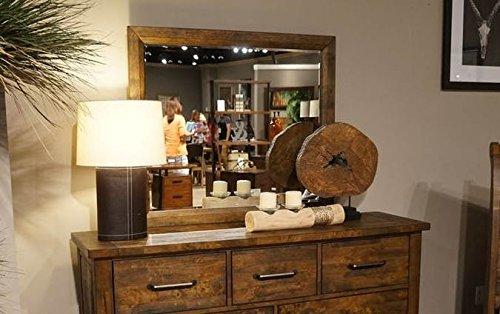 - Jerrick Rustic Mirror w/Wood Frame by Homelegance