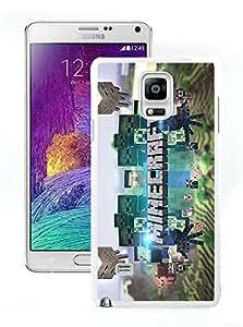 Customized Minecraft Game White Phone Case for Samsung Galaxy Note 4 N910A N910T N910P N910V N910R4 003