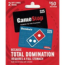 Dominos-Gamestop Pizza and Video Game Gift Cards, Multipack of 2