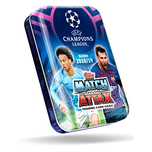 2018/2019 Topps CHAMPIONS LEAGUE Match Attax Soccer Cards MINI TIN. 42 Cards Including a Limited Edition + 5 Special Shiny Cards.