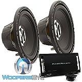 """pkg (2) Memphis 15-SRX12S4 12"""" 250W RMS 500W Max Subwoofer + Power Acoustik RZ1-1500D Monoblock 1500W Max Class D Amplifier"""