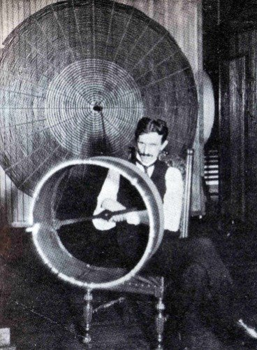 NIKOLA TESLA LAB GLOSSY POSTER PICTURE PHOTO BANNER inventor death ray - Photo Lab Rays