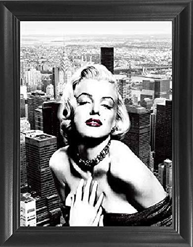 Amazon.com: Marilyn Monroe New York Poster Framed 3D Wall Art ...