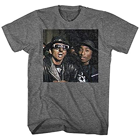 Digital Underground Shock G And Tupac T-shirt, Dark Grey, XL (G Shocks X Large)