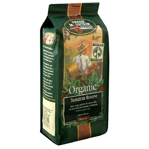 Green Mountain Coffee Comme  Trade Organic Sumatran Reserve, 10 Ounce Bag