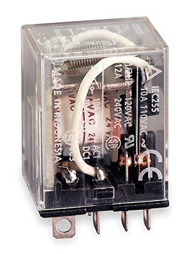 Plug In Relay, 8 Pins, Square, (Omron Plug In)