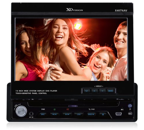 XO Vision XO407NAV In-Dash 7-Inch Touchscreen with DVD, CD, MP4 Receiver