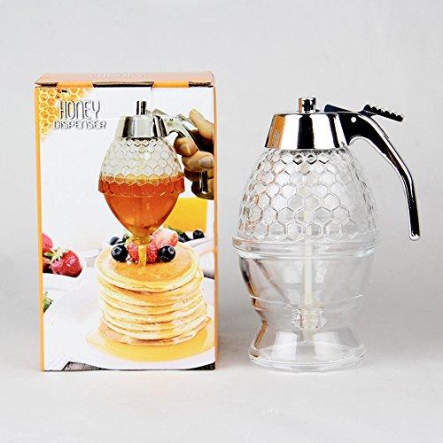 Vintage acrílico Bee Hive Jarabe dispensador de miel, no gotean, Pressed miel jarabe servidor: Amazon.es: Hogar