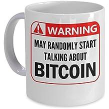 Warning Sign Bitcoin Mug Funny Blockchain Alt Crypto Gift