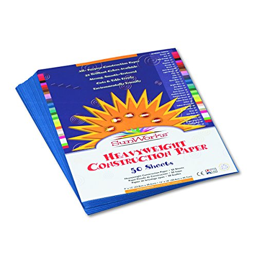 Blue 50 Sheet Pack - SunWorks 7403 Construction Paper, 9