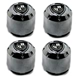 "Fairway Alloys Set (4pcs) Fairway Chrome Center Cap Snap-In 3"" Crest for Shift Aggressor Illusion Divot"
