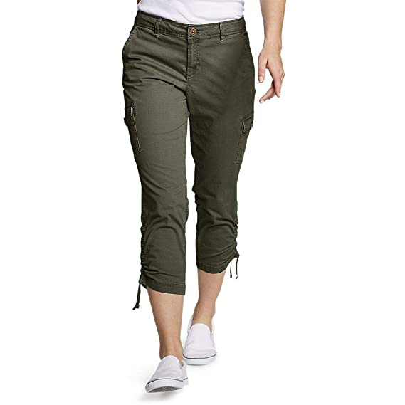 Eddie Bauer Womens Adventurer Stretch Ripstop Crop Cargo Pants Slightly Curvy