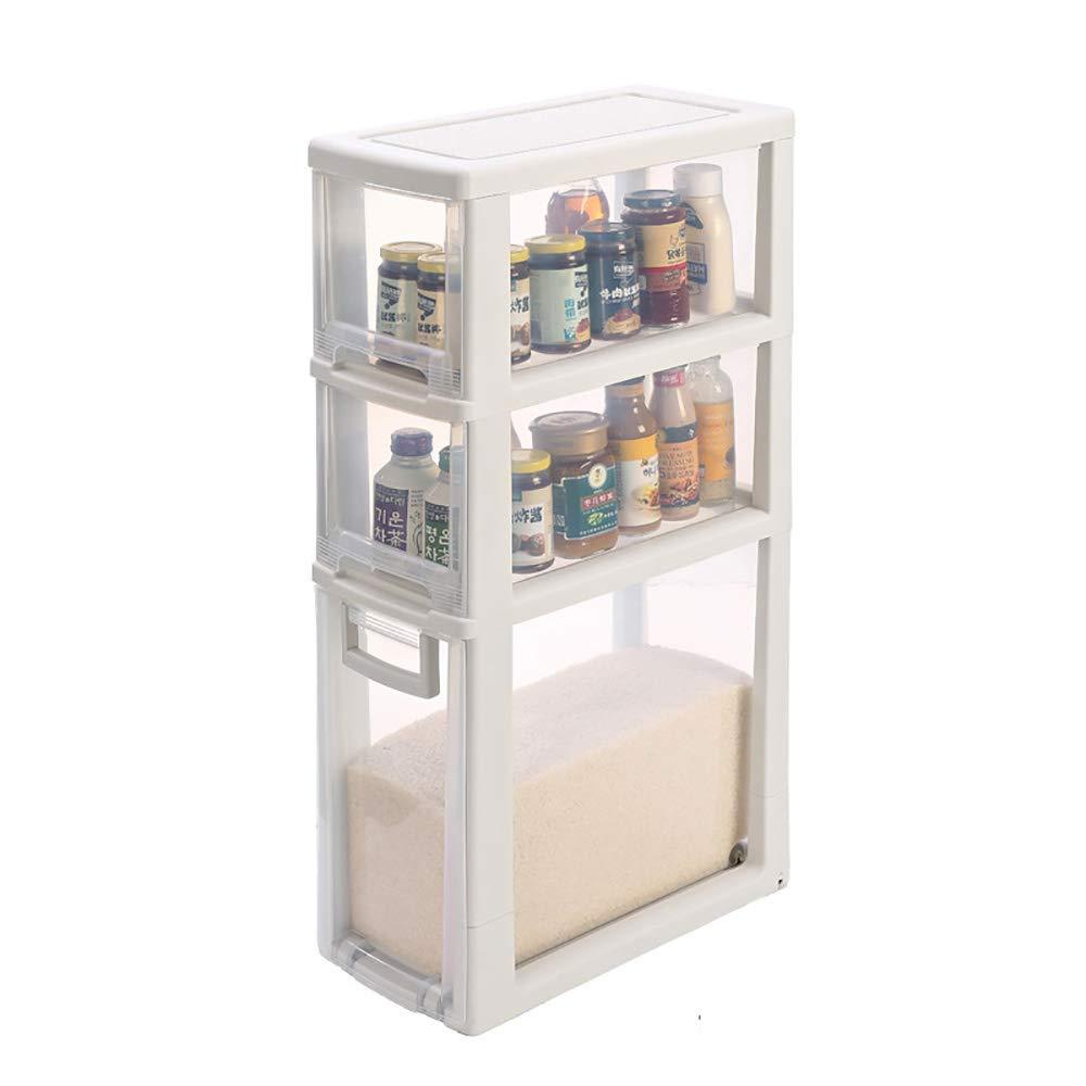ベスト キッチン用棚/プラスチック/キルティング収納キャビネット/多層収納 (サイズ さいず : 43.3*22cm*83cm) B07RWP8GCC  43.3*22cm*83cm
