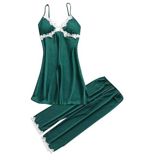 8905ef6613 Amazon.com: Women Sexy Silk Pajamas Lingerie White Lace Robe ...