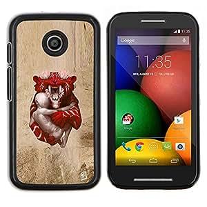 LECELL--Funda protectora / Cubierta / Piel For Motorola Moto E -- Tigre de bebé --