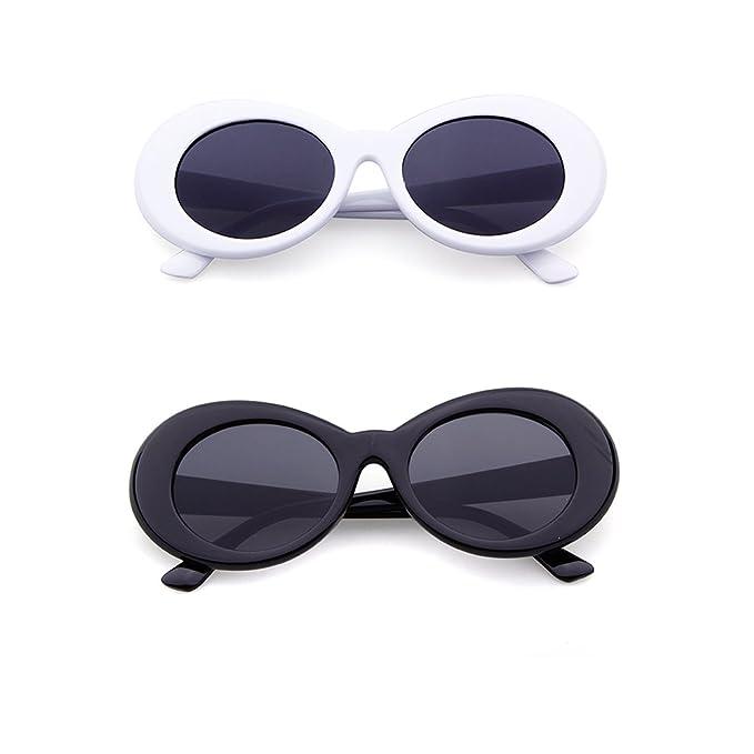 Amazon.com: Bold Retro Oval Mod Clout Goggles Thick Frame Kurt ...