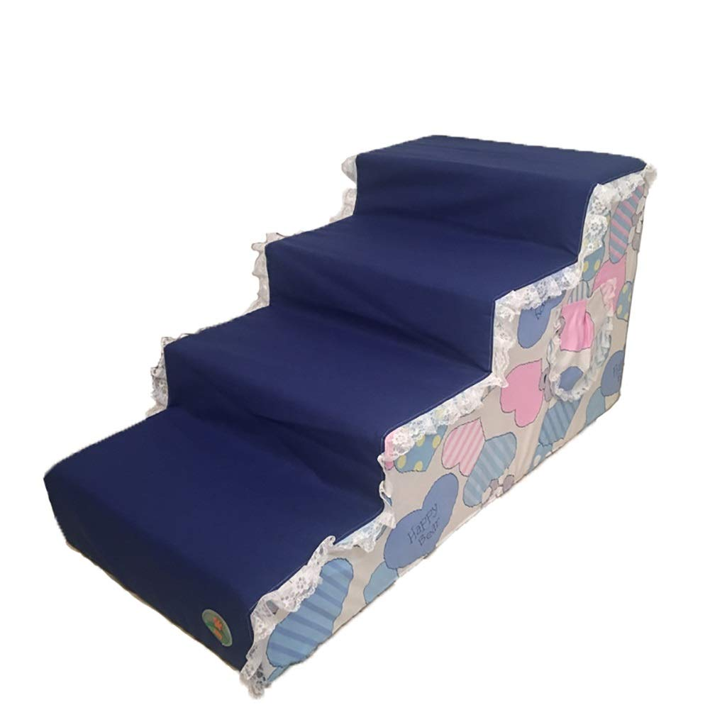 Dogs Stairs 4-step Pet Bed Ladder for Couch and High Bed, Removable and Washable cover