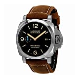 Panerai Luminor Marina 1950 Brown Dial Automatic Mens Brown Leather...