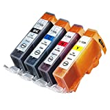 INKUTEN (TM) Compatible Ink Cartridge Replacement for Canon CLI-226 (1 Small Black, 1 Cyan, 1 Magenta, 1 Yellow) - 4 Pack