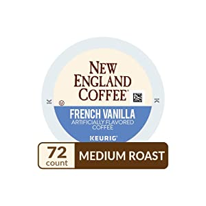 New England Coffee French Vanilla Medium Roast K-Cup Pods 12 ct. Box (Pack of 6)
