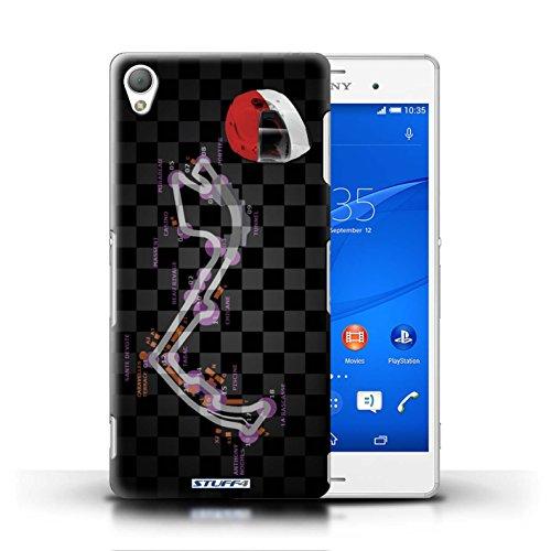 Kobalt® Imprimé Etui / Coque pour Sony Xperia Z3 / Monaco/Monte Carlo conception / Série 2014 F1 Piste