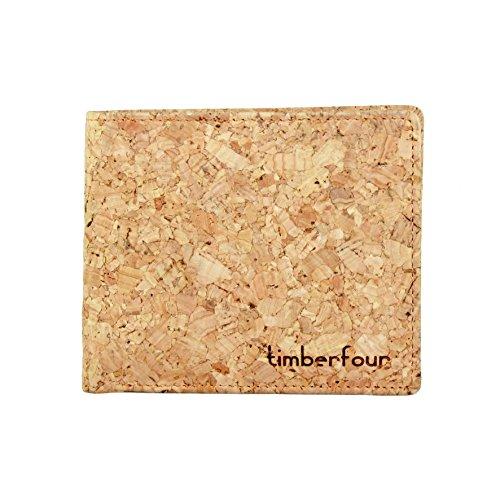 Timberfour Kork Portemonnaie - vegane und nachhaltige Geldbörse für Männer und Frauen mit Münzfach