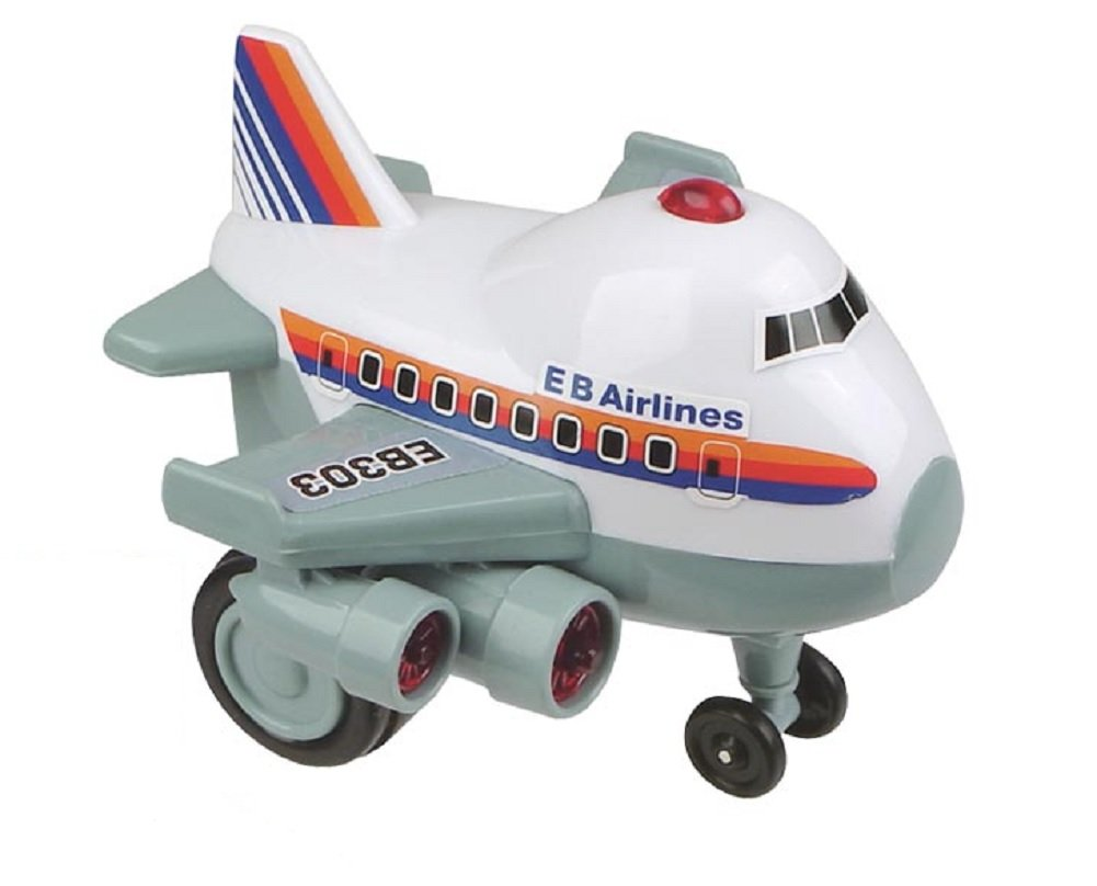 Zoomsters Jumbo Jet Friction Wind Up Toy Children, Kids, Game by Toysmith