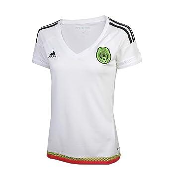 137b69cb4 Amazon.com: adidas Mexico Womens Away Jersey White/Black: Clothing