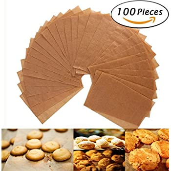 Parchment Paper Cookie Baking Sheets - 12 x 16 Inches - Non-Stick Brown Unbleached - Safe for High Temperature Baking - Pack of 100