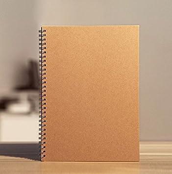 Marrón papel Kraft, encuadernación en espiral),/diario ...