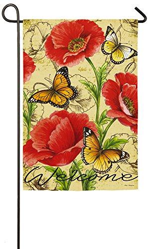 Evergreen Bright Florals Suede Garden Flag, 12.5 x 18 inches