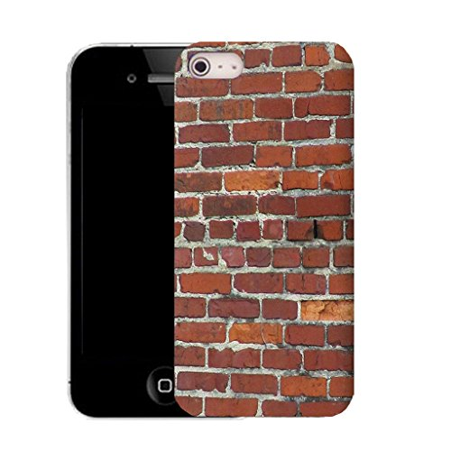 Mobile Case Mate IPhone 4 clip on Silicone Coque couverture case cover Pare-chocs + STYLET - brick wall pattern (SILICON)