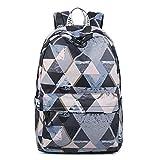 Acmebon Lightweight School Backpacks for Teen Girls Casual 15.6'' Notebook Travel Daypacks Grey Phantom