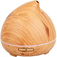 Ewolee Essential Oil Diffuser, 300ml Cool Mist Aroma diffuser Humidifier 7-Color Lights for Bedroom Living Room Spa Baby