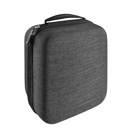 Geekria EJB35 Full-Size Hard Shell Large Headphone Carrying Case for Over-Ear, DJ, Gaming Headphones/Protective Headset Travel Bag with Space for Accessories (Dark Gray)