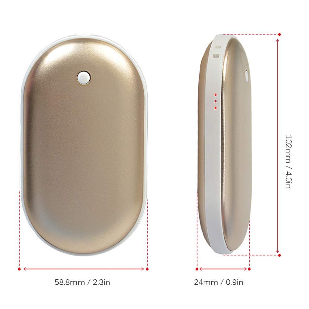 Blusea Handw/ärmer USB Wiederverwendbar Multifunktionale Handw/ärmer mit Powerbank-Funktion