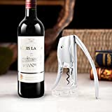 Product review for Wine Opener with Foil Cutter Votron Bottle Opener Elephant Corkscrew Two Seconds Speed Open Bottle Dining & Bar Cooking Tools for Sommeliers,Waiters and Bartenders-Silver,Best Gift for Father's Day