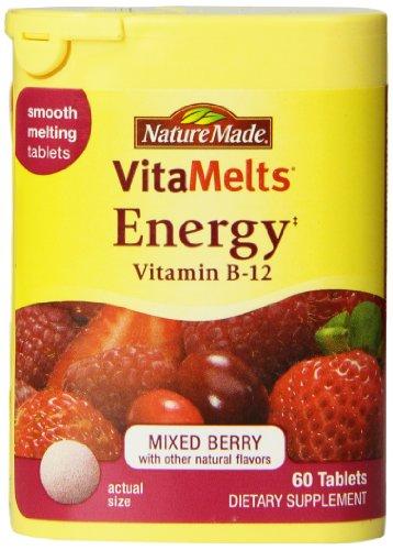 Nature Made Vitamelts 1500 Mcg Lisser Dissoudre le comprimé, la vitamine B-12, 60 comte