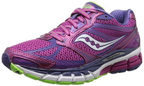 Control Shoes Running Motion Women (Saucony Women's Guide 8 Road Running Shoe, Berry/Purple/Slime, 7.5 M US)
