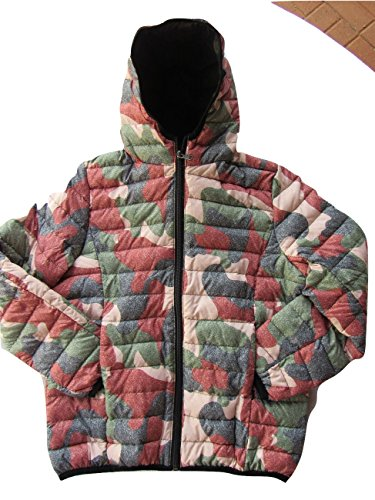 Mad Bomber Girls Lil Down Jacket Pink Camo Puffy Coat Zip Up Hoodie With Matching Drawstring Bag ...