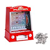 Costzon New Coin Pusher Machine Mini Penny Pusher Coin Pusher Fairground Arcade Amusements Game Replica for Famile Children