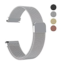 18mm Milanese Replacement WatchBand Strap for Zenwatch 2/Fossil Q Tailor/Huawei/LG Watch Style/Withings Activite/Steel HR/Casio Aposon Timex Smart Watch Band