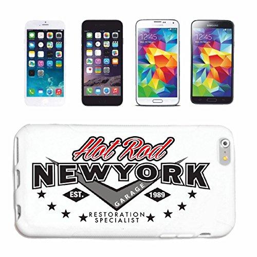 """cas de téléphone iPhone 6+ Plus """"HEUT ROD NEW YORK GARAGE RESTAURATION SPÉCIALISTE HOT ROD CAR US Mucle CAR V8 ROUTE 66 USA AMÉRIQUE"""" Hard Case Cover Téléphone Covers Smart Cover pour Apple iPhone en"""